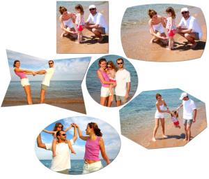 Découpe des photos avec des formes simples et géométrique